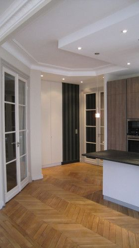 CUISINE ouverte en salon Philippe Ponceblanc Architecte du0027intérieur - image cuisine ouverte sur salon