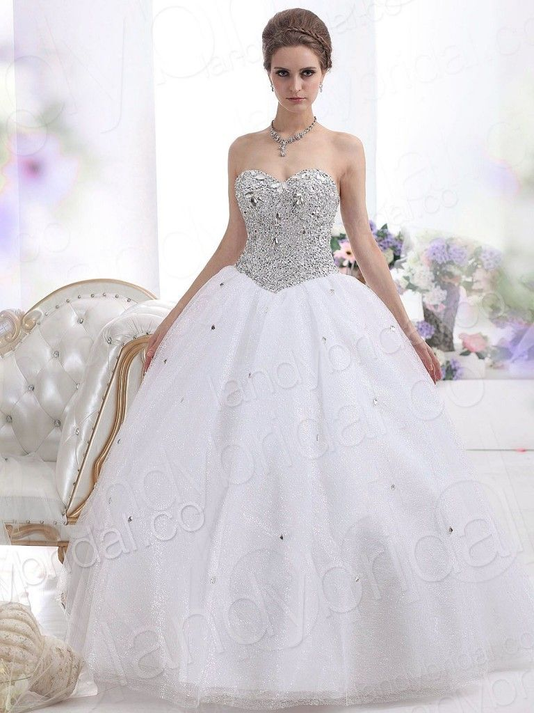 Strapless Ball Gown Wedding Dresses Stylish And Elegant 5