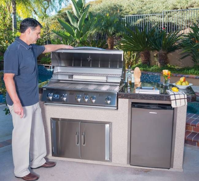 Urban Islands 5 Burner Outdoor Kitchen Island By Bull Outdoor Products With Images Outdoor Kitchen Island Outdoor Kitchen Urban Island