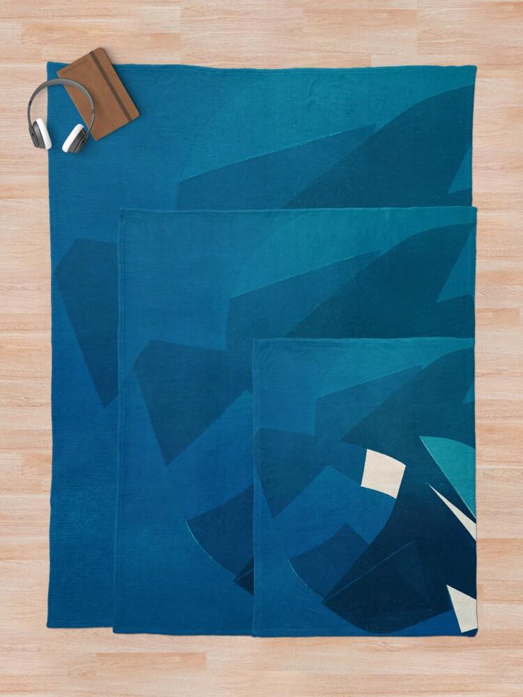 Photo of 'Blue Origami Cat' Throw Blanket by FernandoVieira