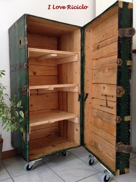 Il baule arredamento valigia mobili fai da te riciclo e for Idee per restaurare casa