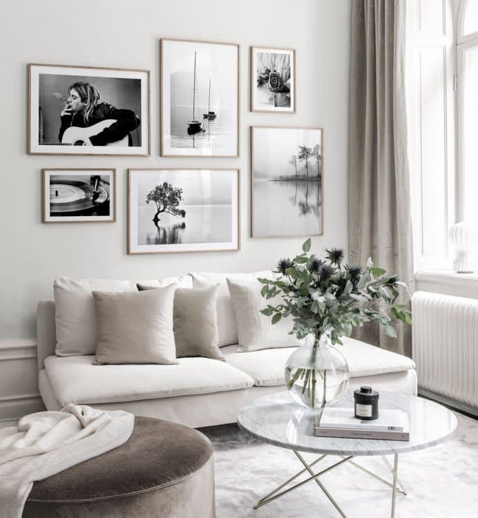 Inspiration für deine Bilderwand - Posterstore.de #wohnzimmerideenwandgestaltung
