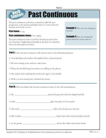 Verb Tense Worksheets Con Imagenes Ingles Conversaciones