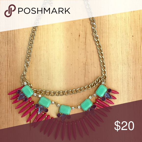 Gold chain and color block necklace From Geranium boutique Jewelry Necklaces