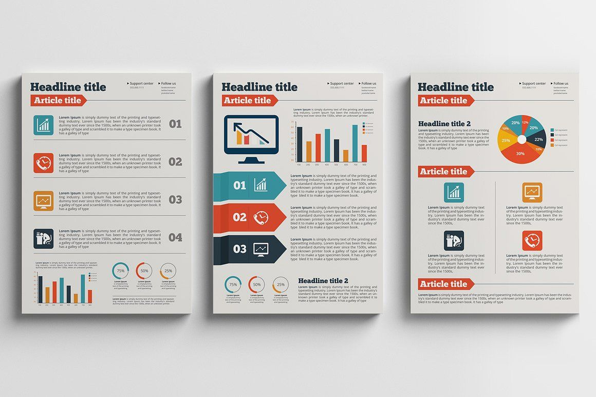 Business Plan A4 Flyer /Brochure by BrochuresFactory on