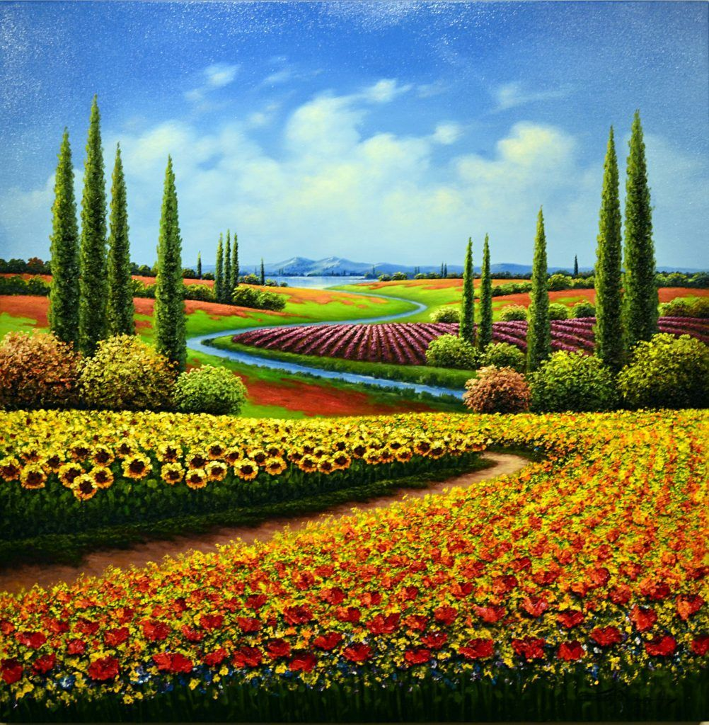mario jung flowering fields off the wall gallery with on off the wall id=65678