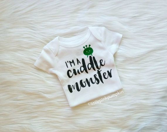 Baby Shower Gifts Hipster ~ Baby boy clothes cuddle monster bodysuit cuddle monster shirt