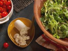 Big Leafy Green Salad with Goat Cheese Tarts