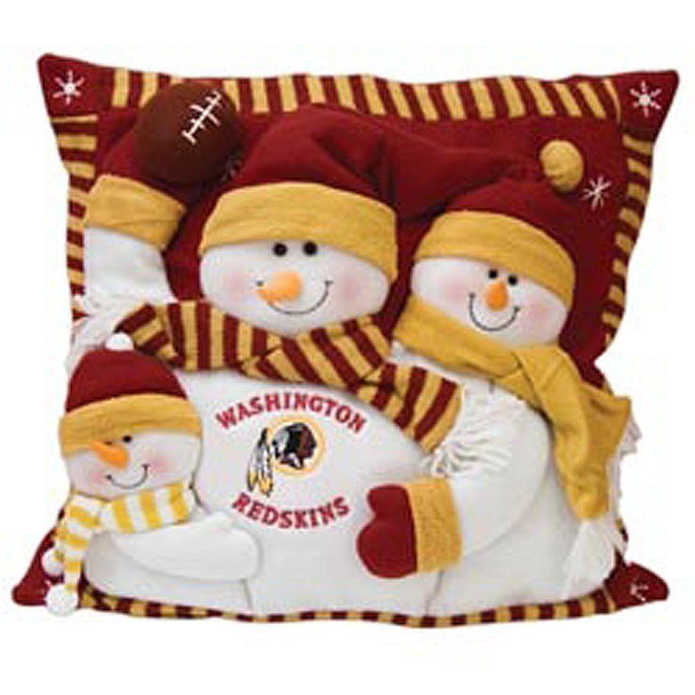 NFL Washington Redskins Snowman Pillow