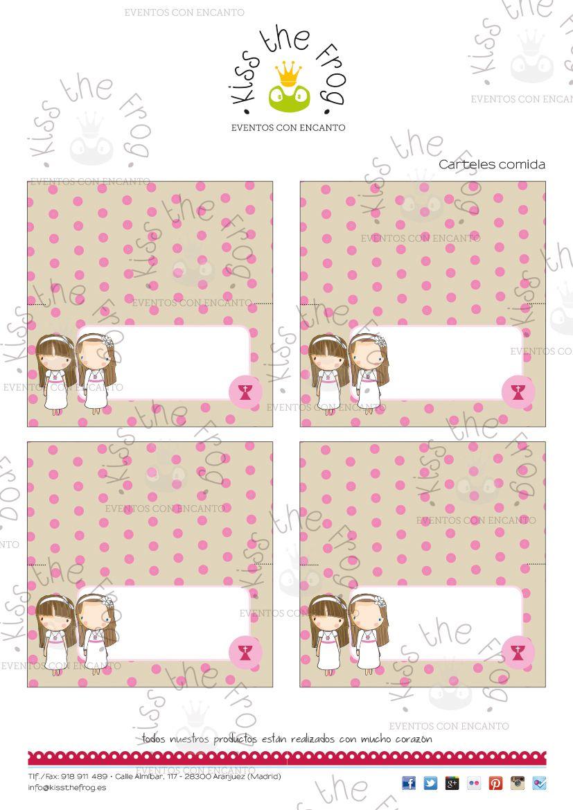 Kit Imprimible de Comunión para gemelas, mellizas o hermanas ...