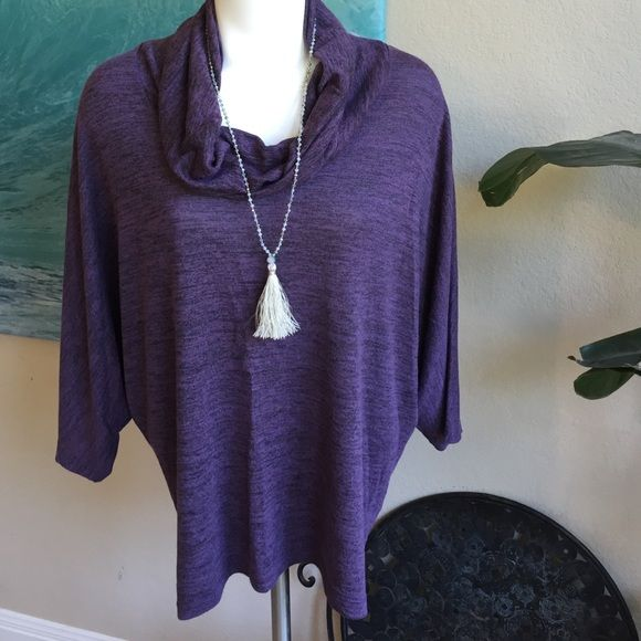 Olivia Moon dolman Gorgeous purple color! Excellent condition Olivia moon Doman top Olivia Moon Tops