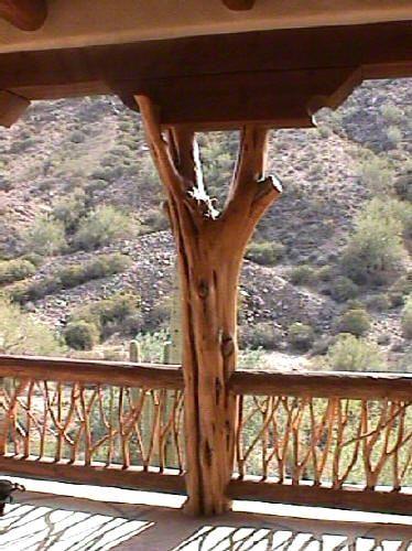 Hand Stripped Cedar Forked Wooden Pole Cedar Twigg