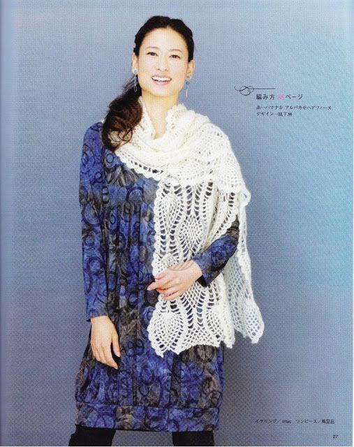 PATRONES GRATIS DE CROCHET: Patrón gratis de una bella bufanda a ...