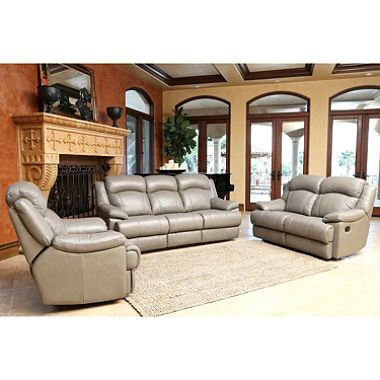 Simple Hamptons Top Grain Leather Reclining Sofa Loveseat and Chair Set Awesome - Awesome power reclining sofa