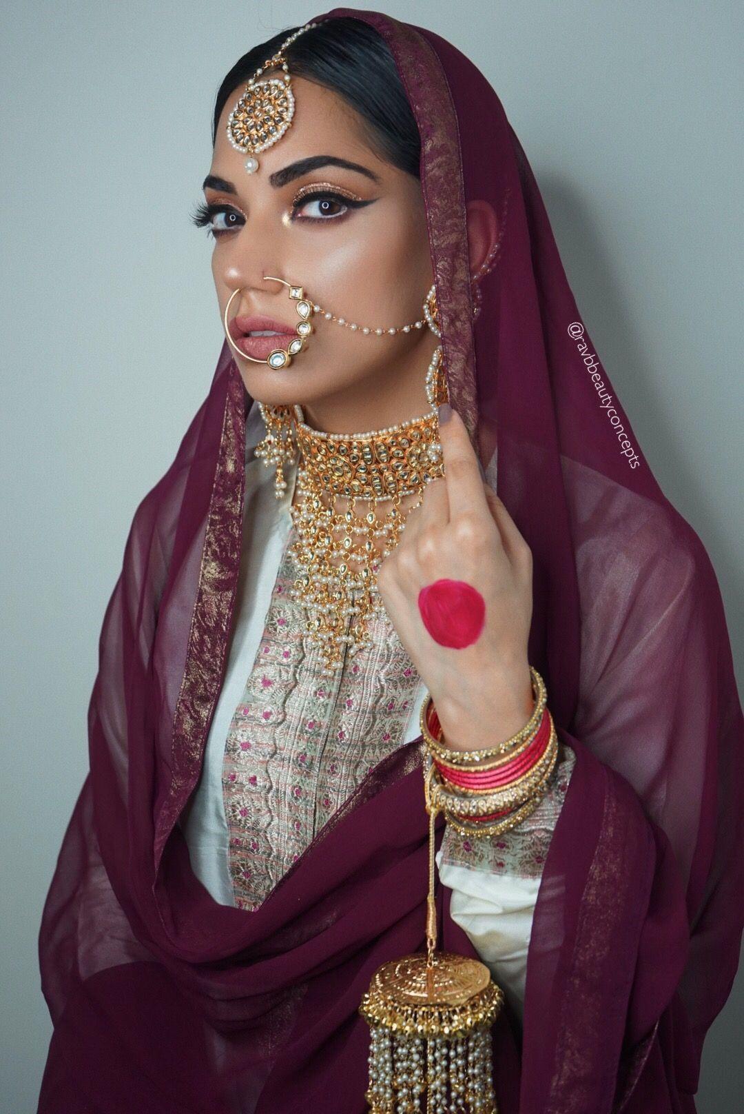 Indian Bridal Makeup Bridal Makeup Indian Bridal Hair Bridal Hair South Asian Bridal Indian Bridal Makeup Indian Bridal Hairstyles Pakistani Bridal Makeup