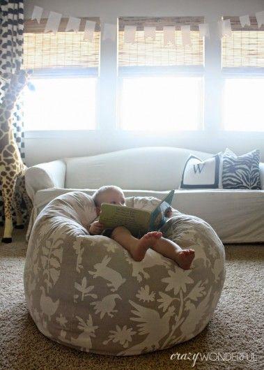 diy otomi stenciled bean bag chair geometric allover stencils rh pinterest com