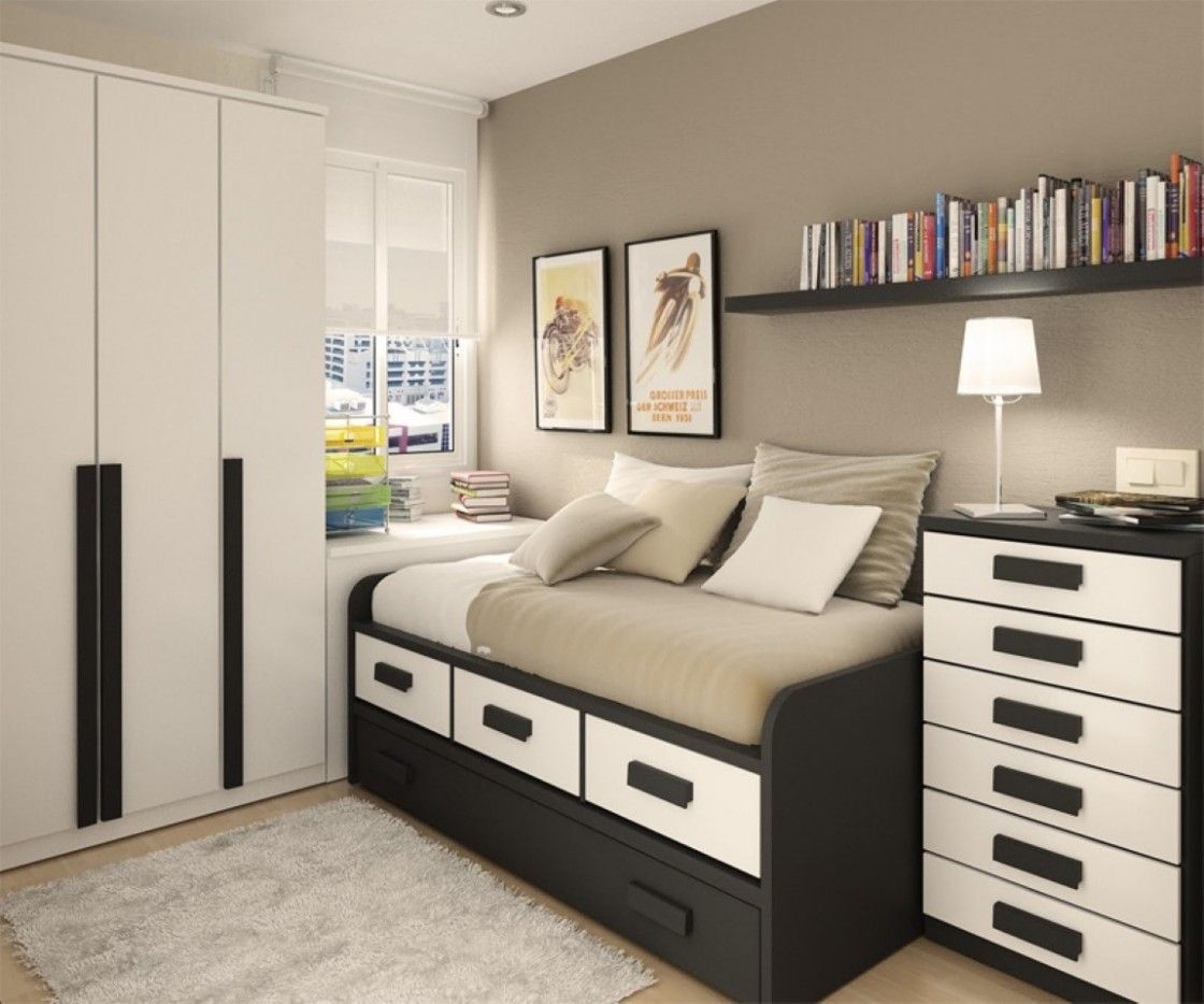 Bedroom paint ideas with black furniture - Brown Bedroom Furniture Decorating Ideas For Teen With Wall Bookshelves By Home Architecture Design