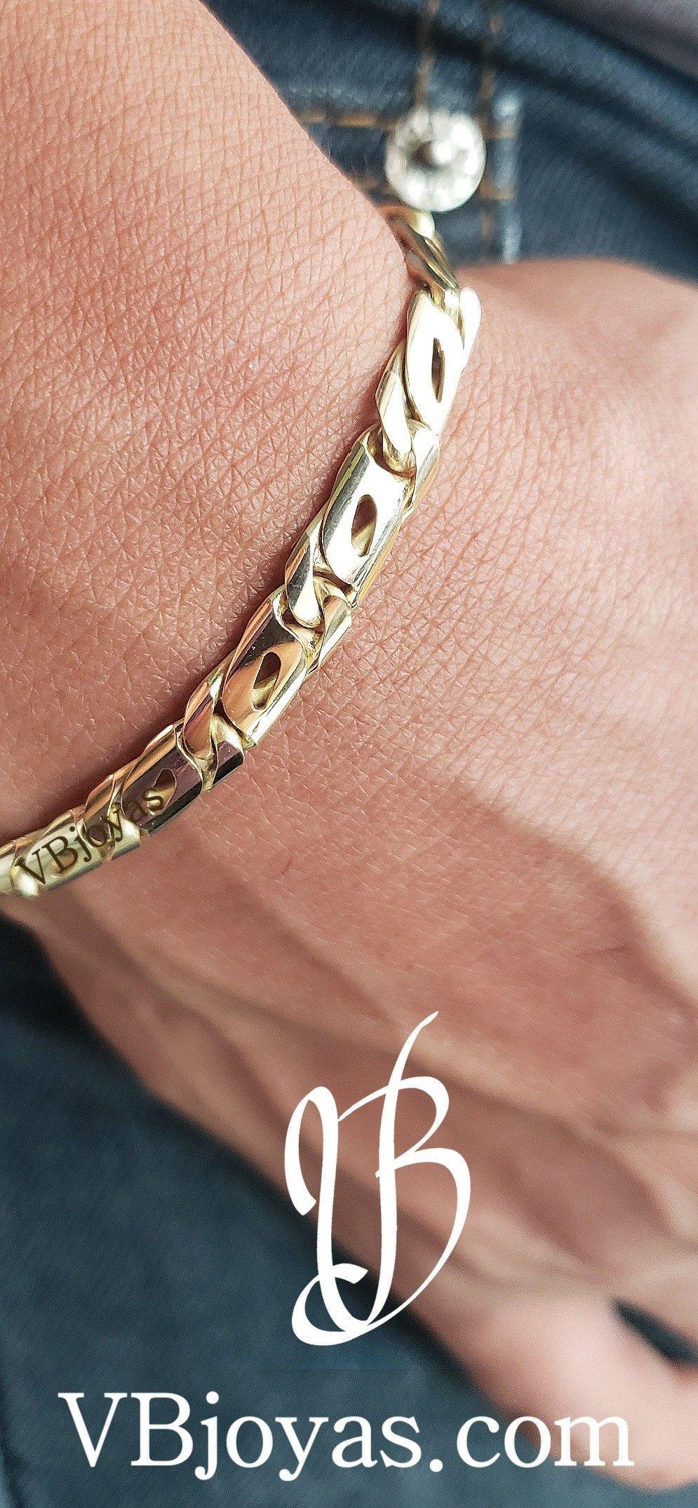 Men S Bracelet Vbjoyas Ecuador Pulsera De Oro Hombre Pulsera Oro Hombre Esclava De Oro Hombre