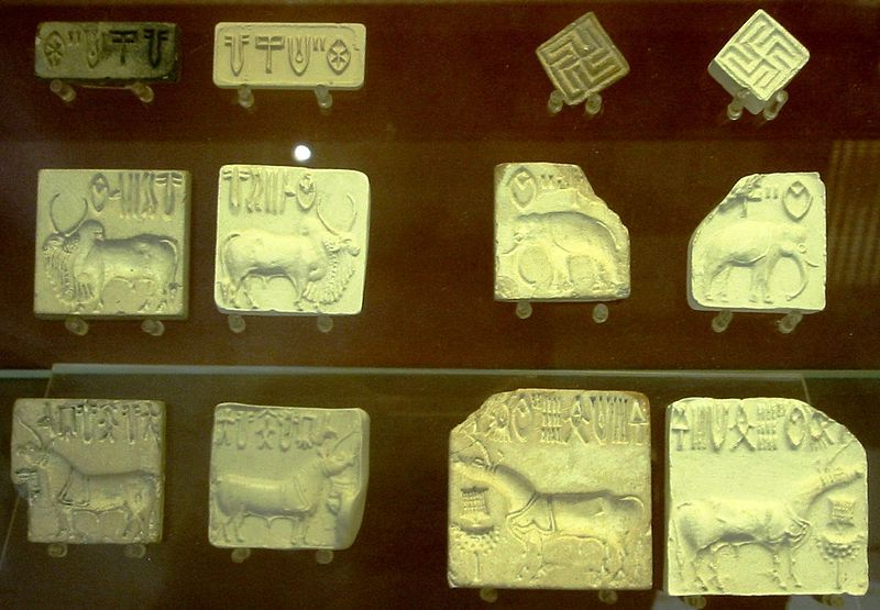 Collection of seals of the Indus Valley Civilization.