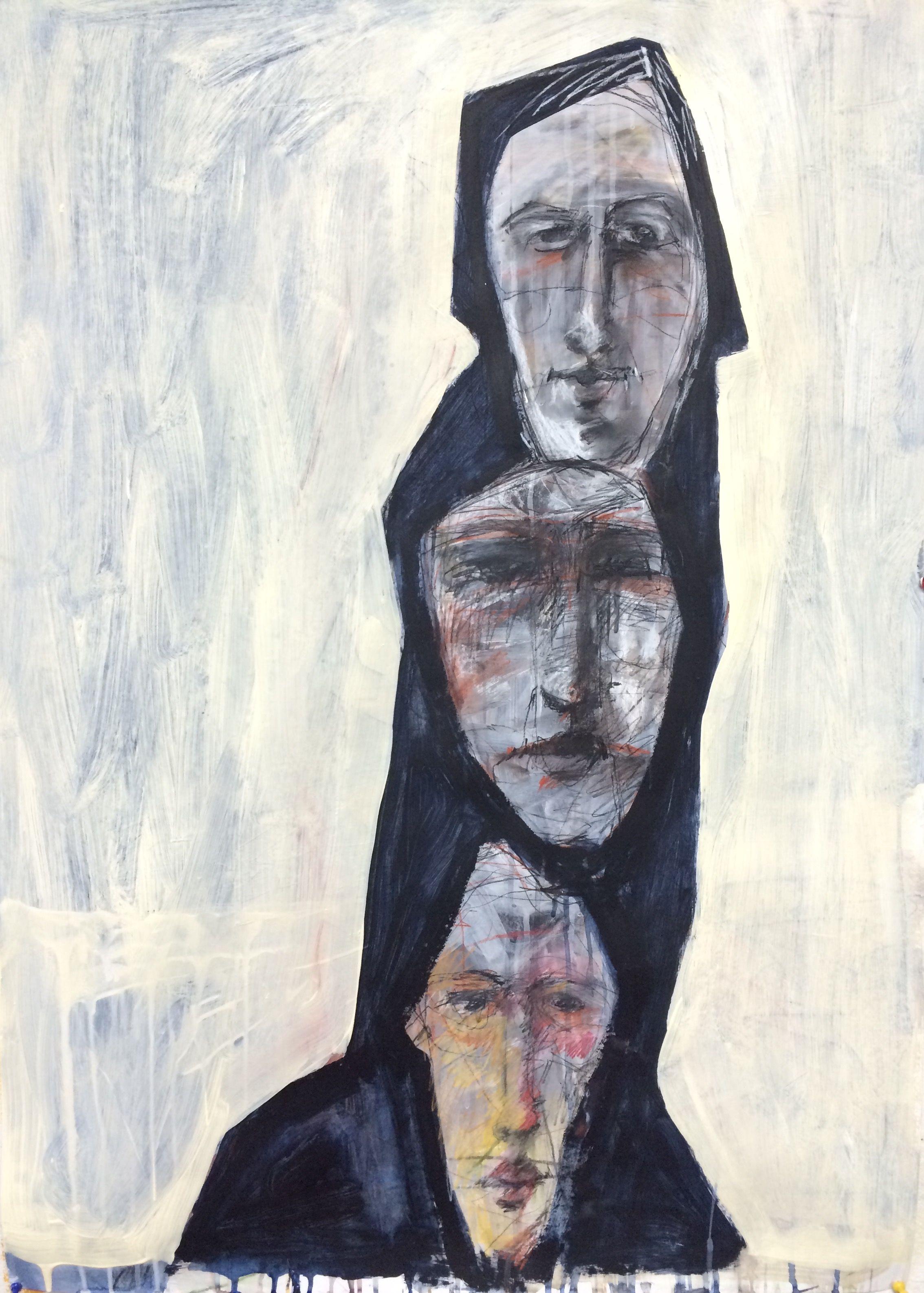 self portrait 70 of 100 Figure art painting