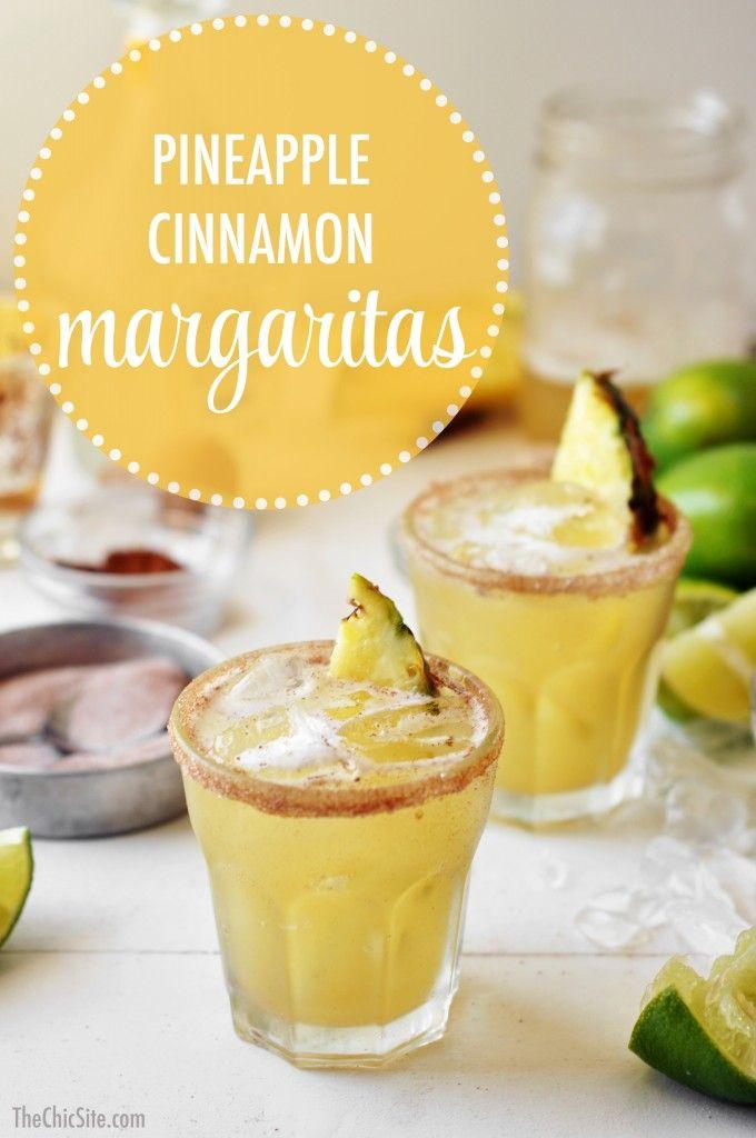 Pineapple Cinnamon Margaritas Recipe Yummy Drinks Food