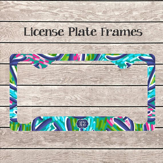 License Plate Frame | Monogram License | New Car Gift | License ...