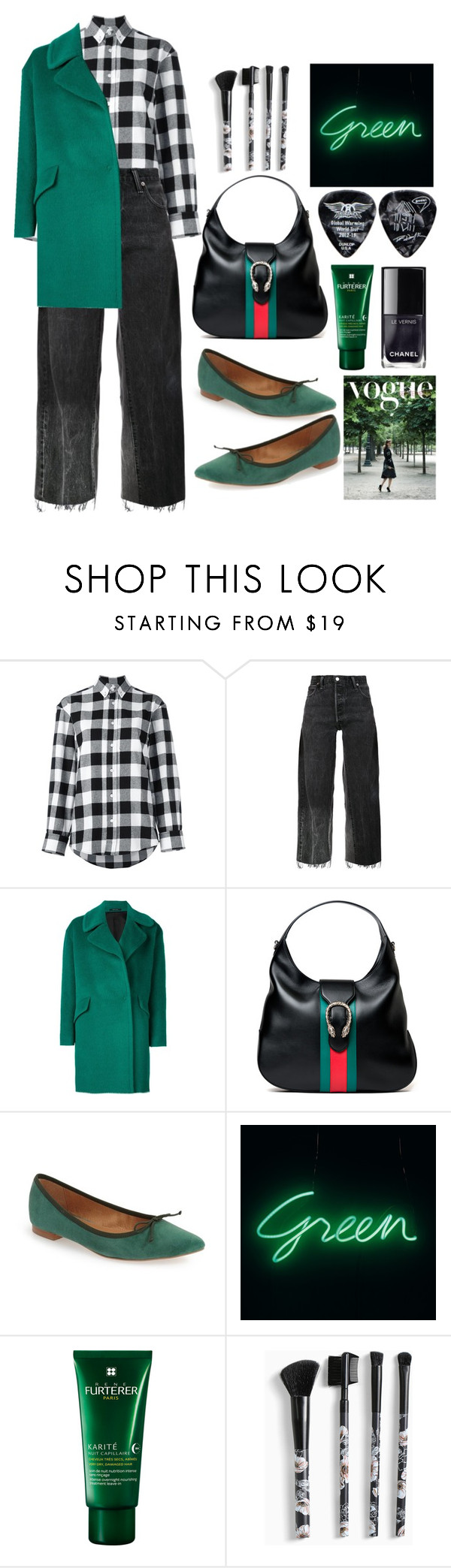 """Simply Green"" by loves-elephants ❤ liked on Polyvore featuring Golden Goose, RE/DONE, Tagliatore, Gucci, Corso Como, Rene Furterer and Torrid"