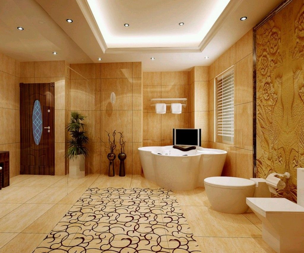 ideas for bathrooms decorating%0A    decorating ideas for bathroom sets    Decorating Ideas for Bathroom Sets  modern bathroom with unique tub and beautiful rug