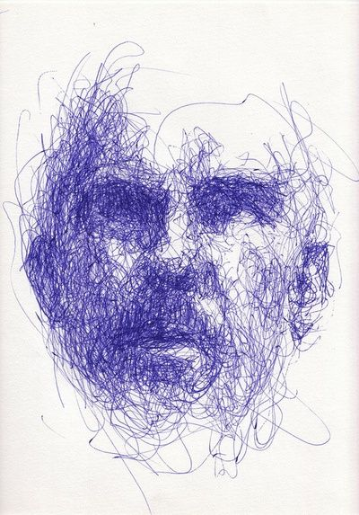 Famous Expressive Line Art : Expressive line drawing showing tone through mark making