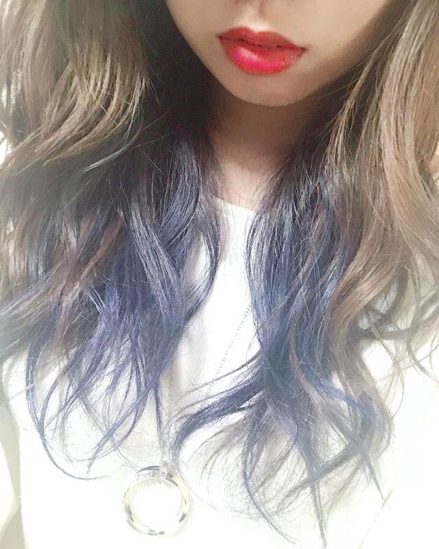 WEBSTA @ miuraharuka_ - .#hair #color #インナーカラー#shockingblue#マニックパニック