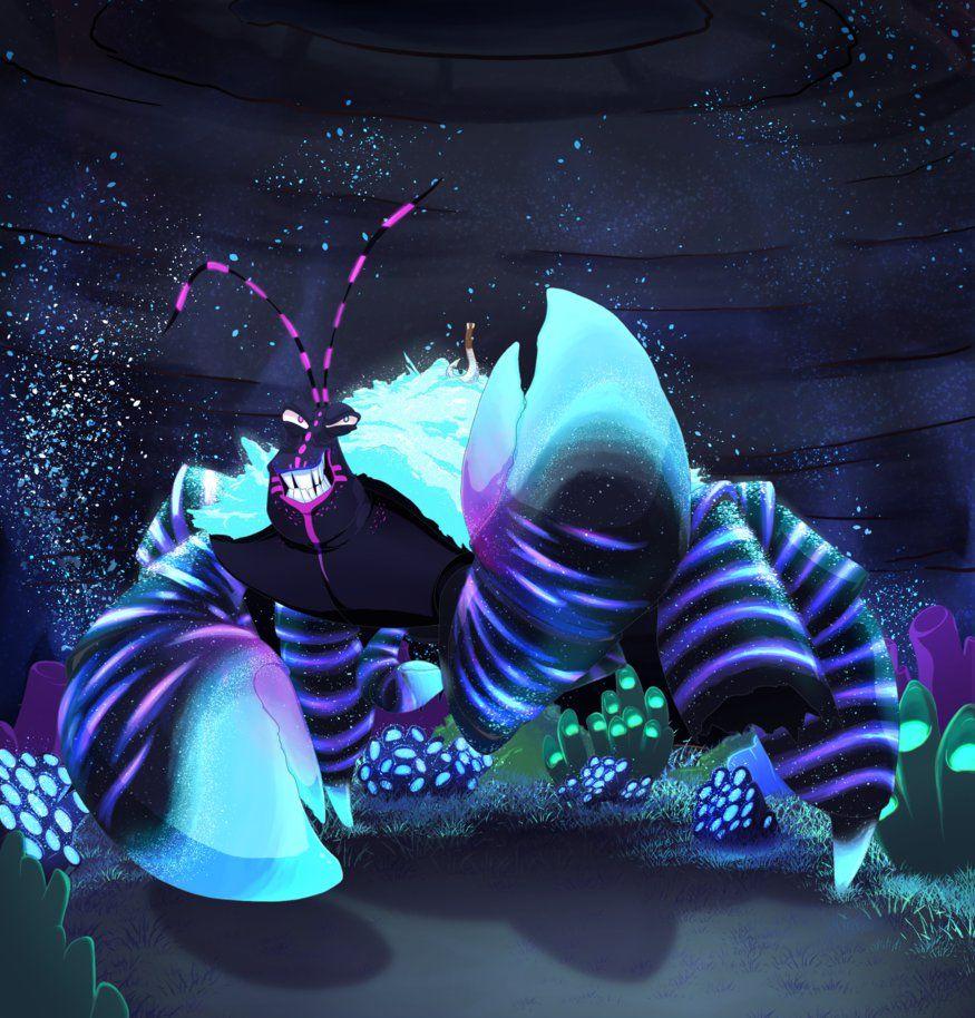 Tamatoa is so SHINY Bioluminescent version by Kyumiku