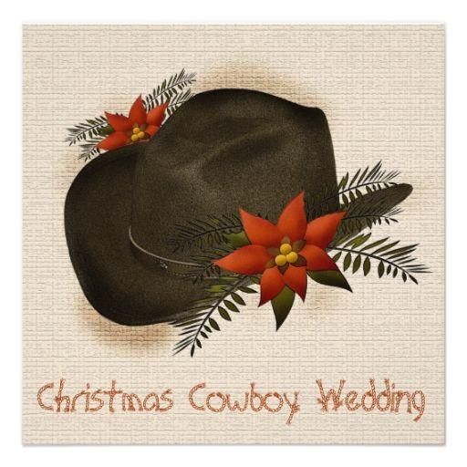 Christmas Cowboy Wedding Invitation