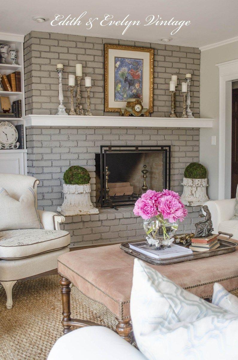 how to paint a brick fireplace shoreline loop pinterest