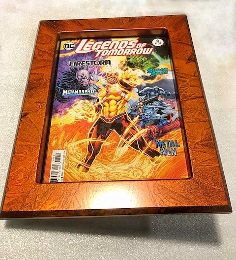 This comic book always looks great no matter what frame we use, lots of great colors by Adalhouse with Booth and Rapmund on the Marble Tangerine frame