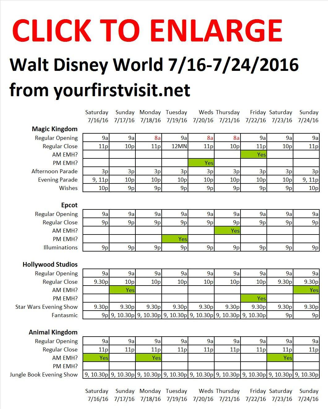 Next Week July 16 Through July 24 2016 At Walt Disney World Disney World