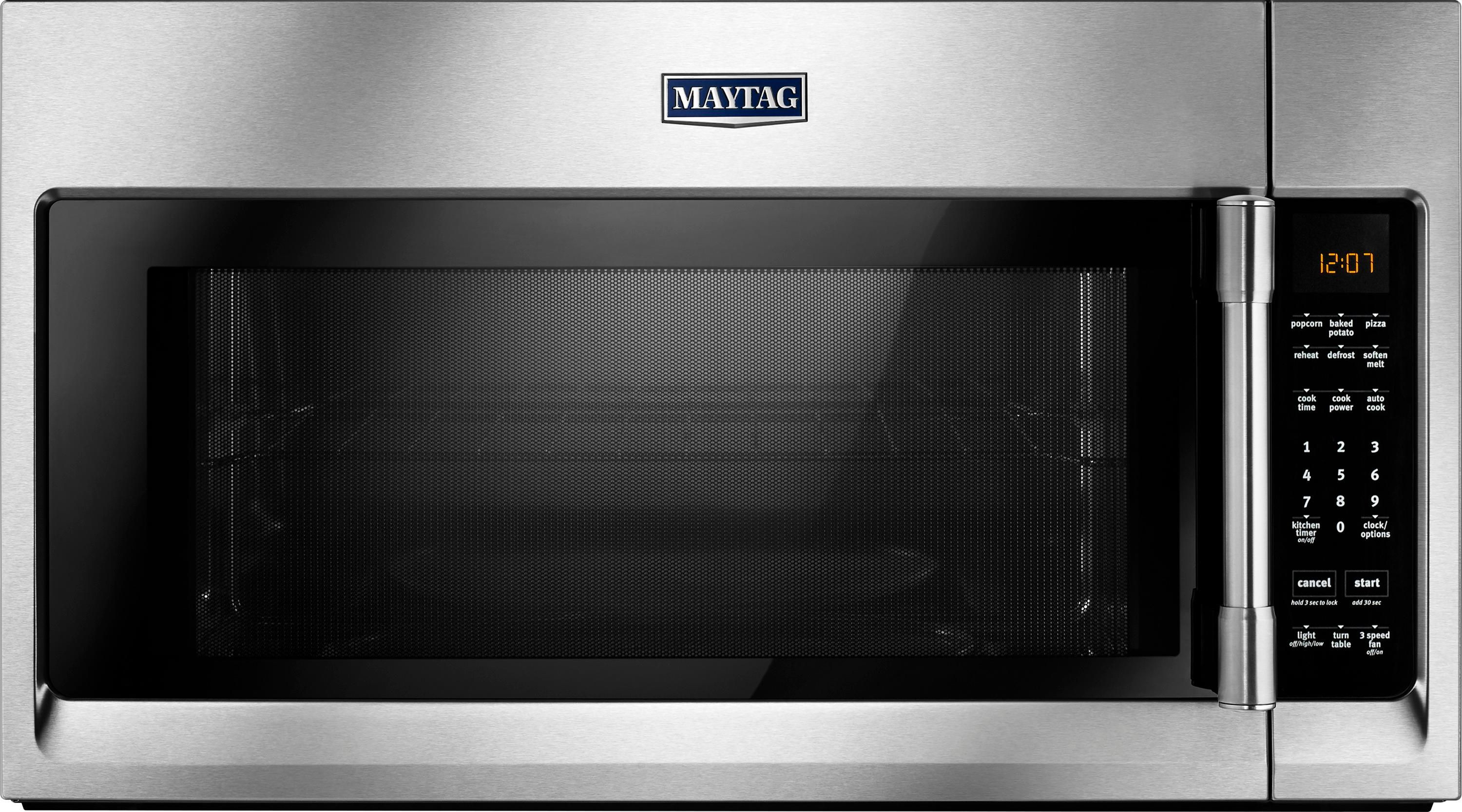 Maytag 2 0 Cu Ft Over The Range Microwave Silver Mmv4206fz