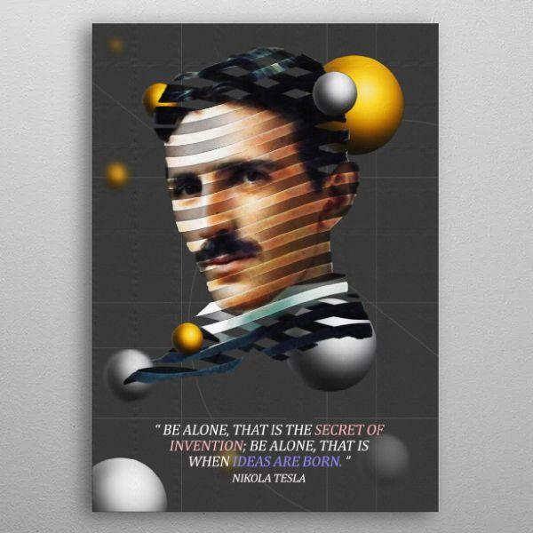 Nikola Tesla Abstract Poster Print | metal posters - Displate | Displate thumbnail