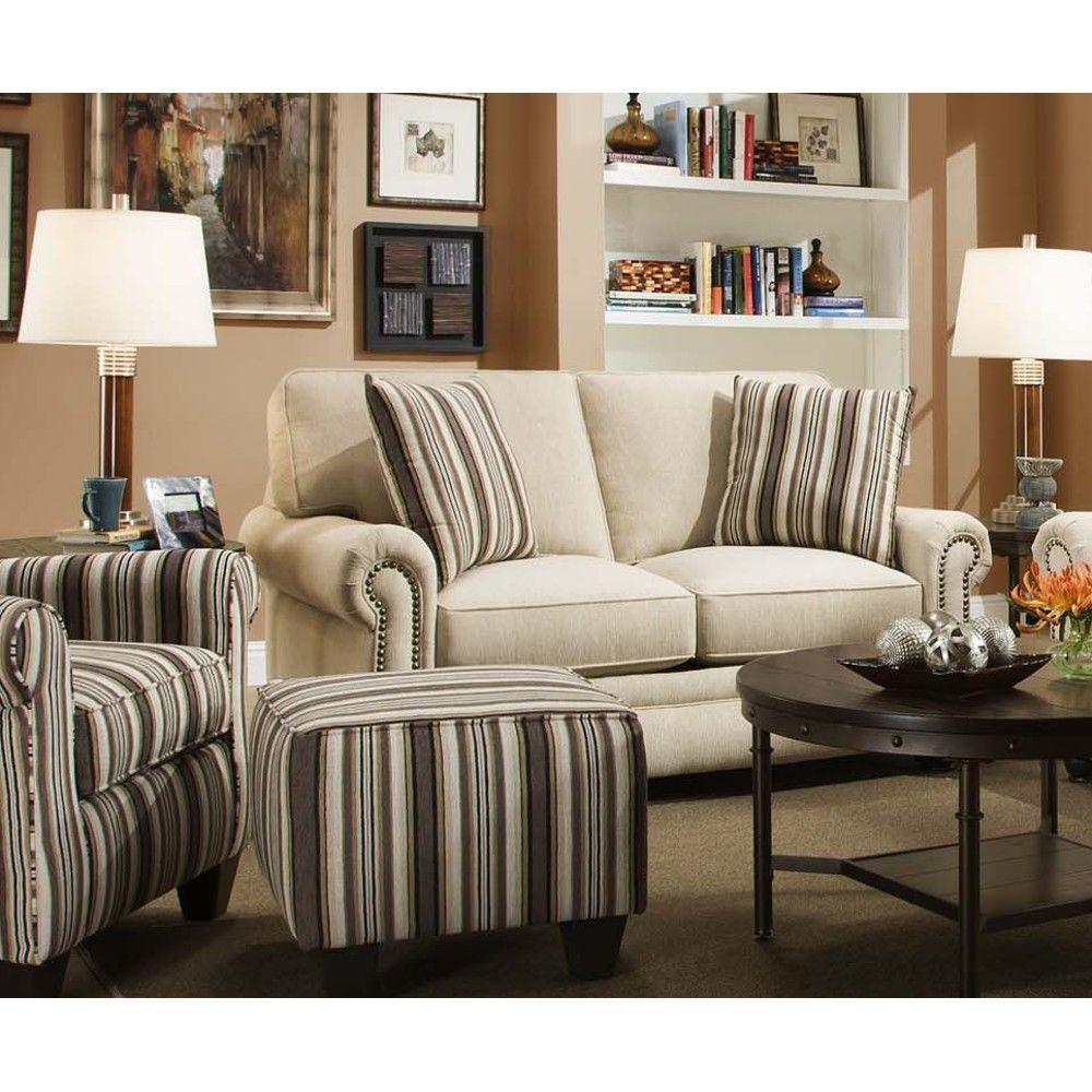 Swan Living Room Sofa Amp Loveseat Sand 97a Conn S