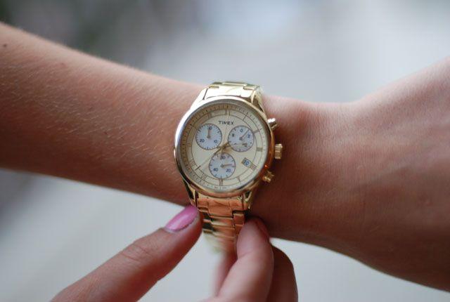 Timex Gold Dress Chronograph #Timex