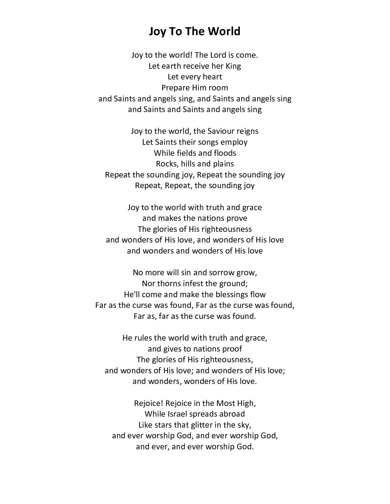 Angels Singing Joy to the World | Joy To The World Joy to the world ...