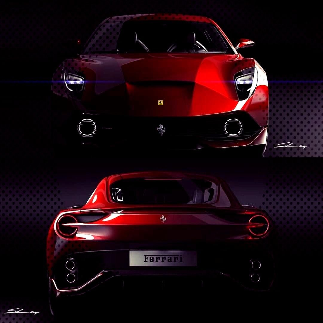 "Car Design Sketch on Instagram: ""Ferrari Sketches by Hosein Soleimani @sig... Car Design Sketch o"
