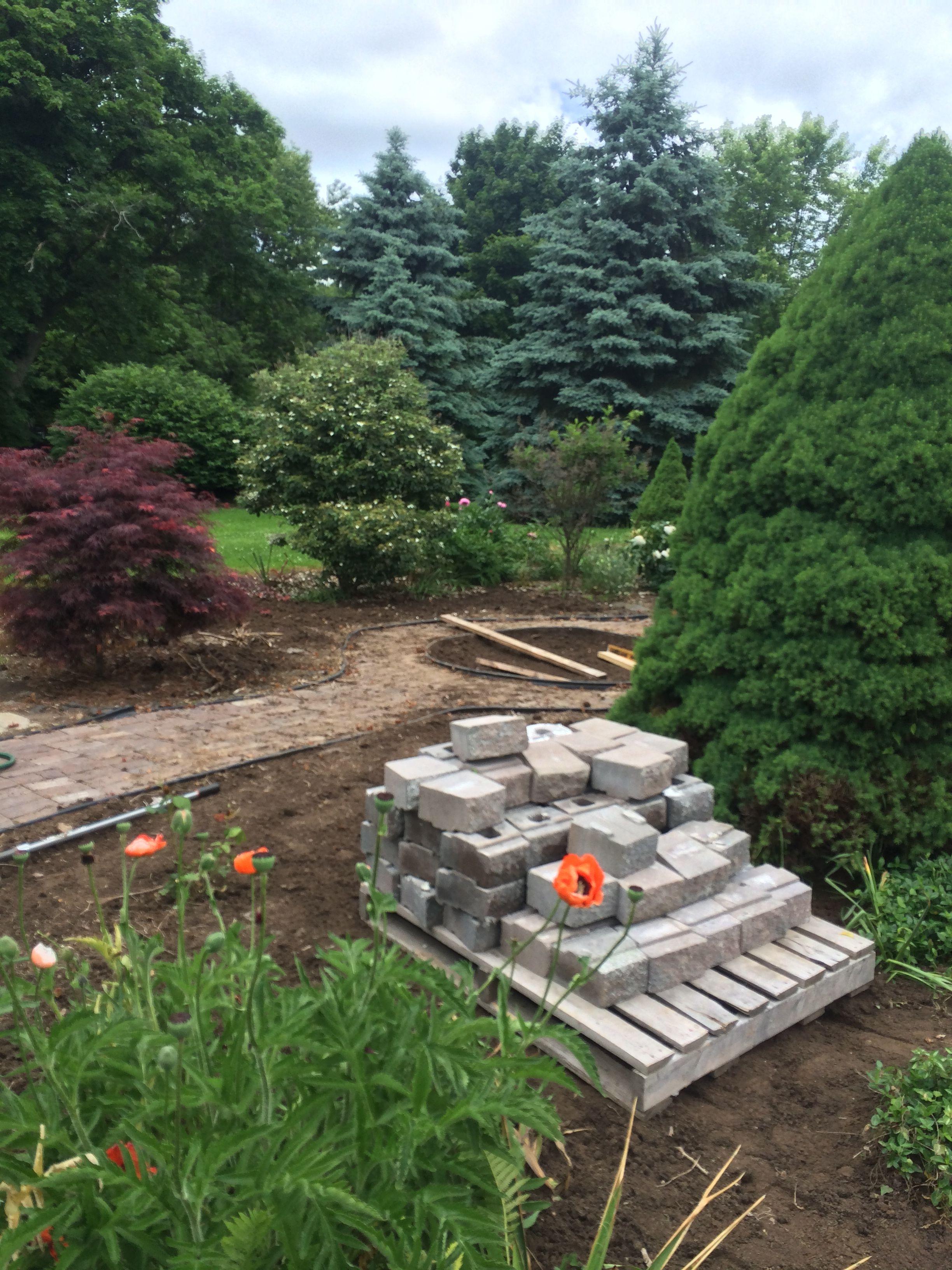 Garden upgrade - Fire Pit!   Outdoor decor, Garden, Fire pit