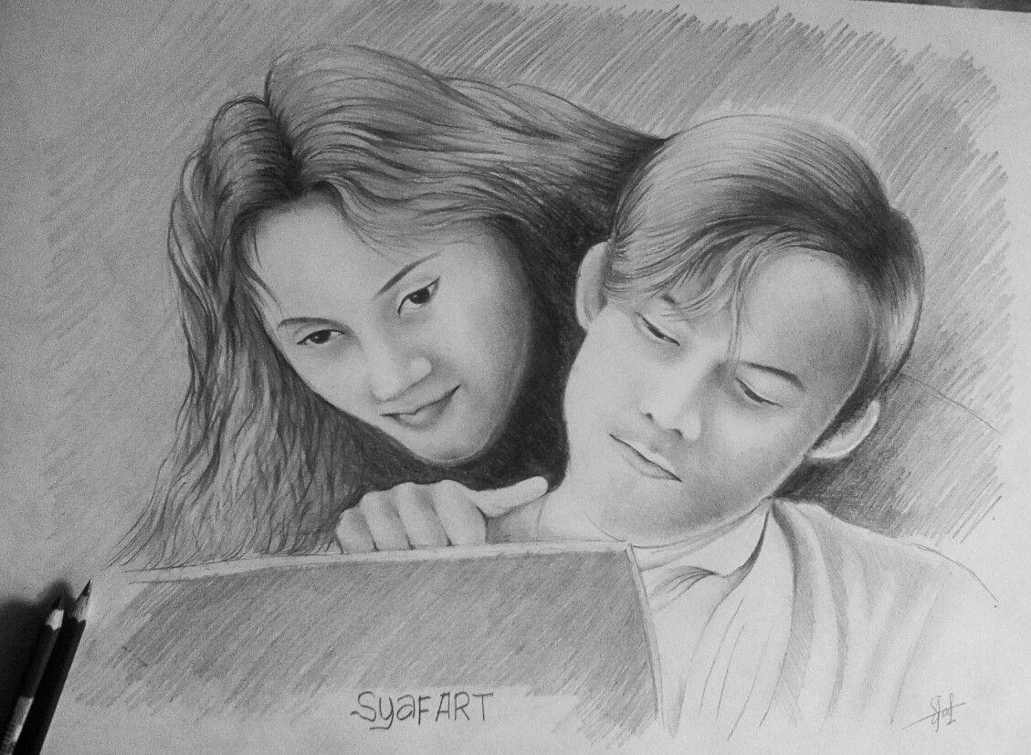 32 Gambar Drawing Portrait Terbaik