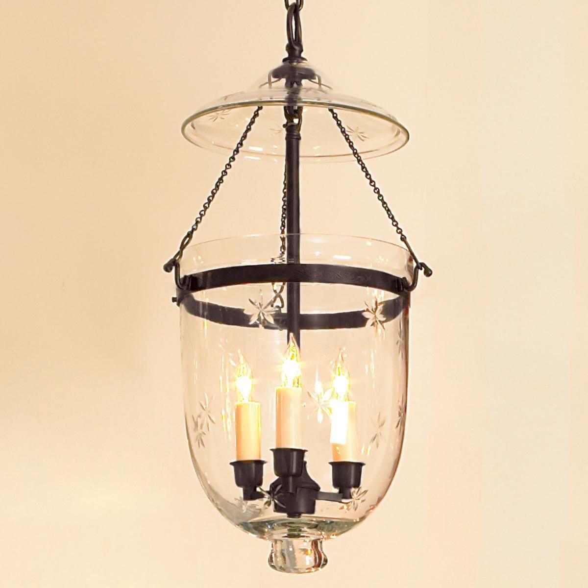 engraved star glass smokebell lantern kitchen lighting ceiling rh pinterest com