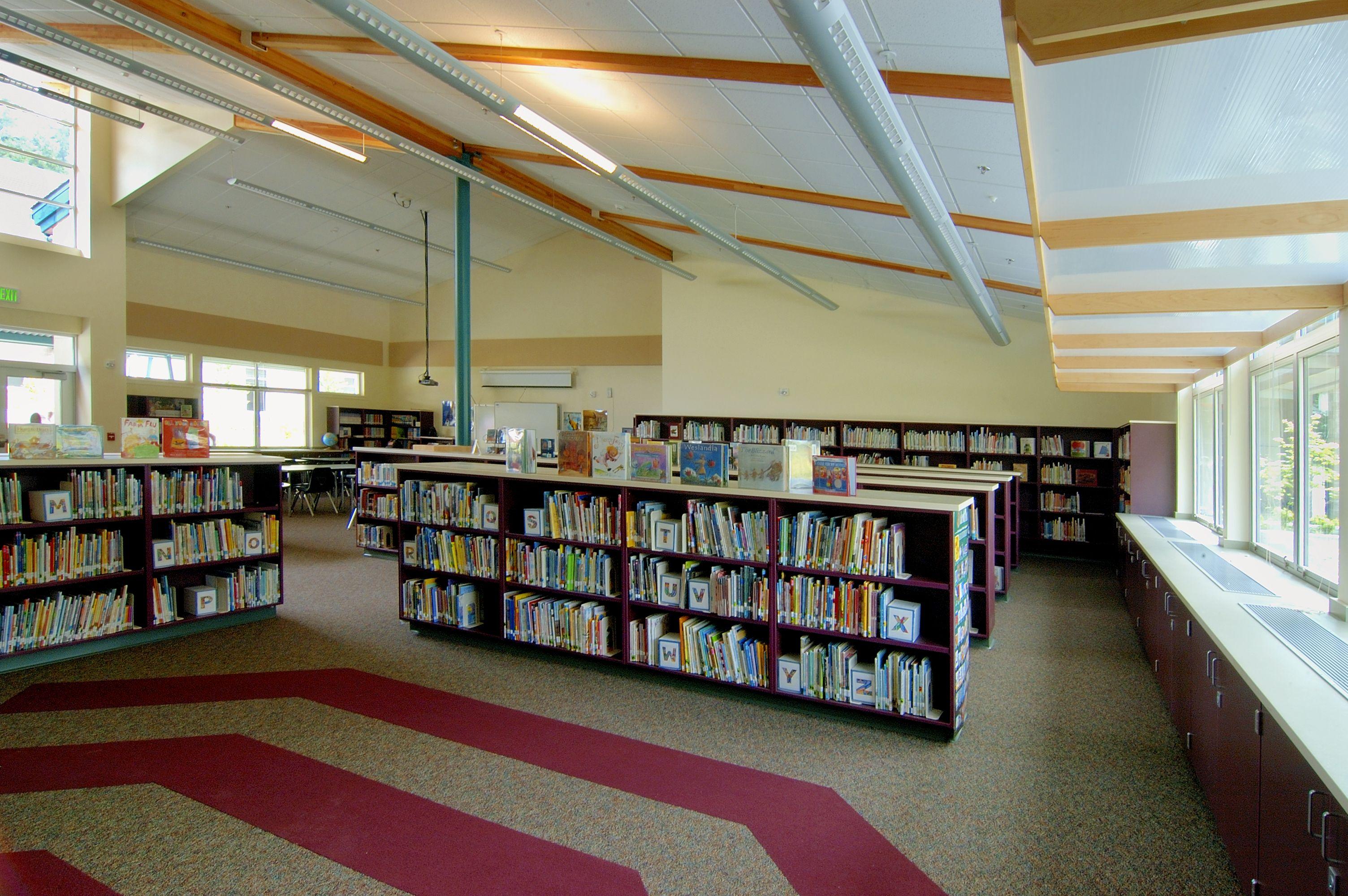 Cottage Lake Elementary School library Cottage Lake