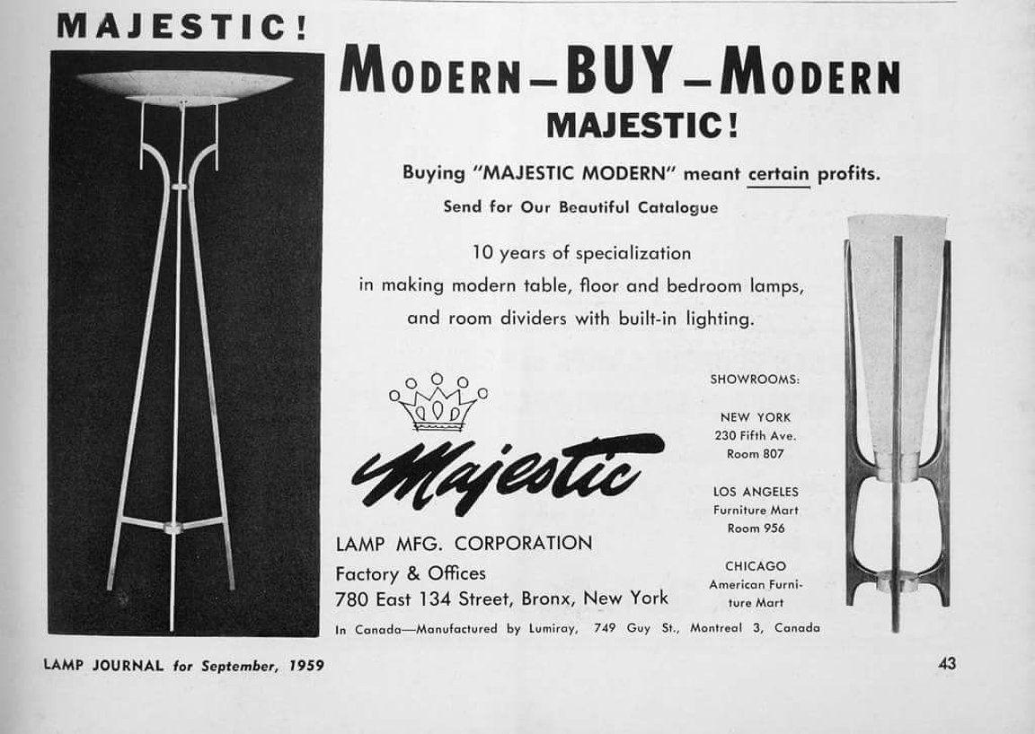 Majestic Lamp Ad