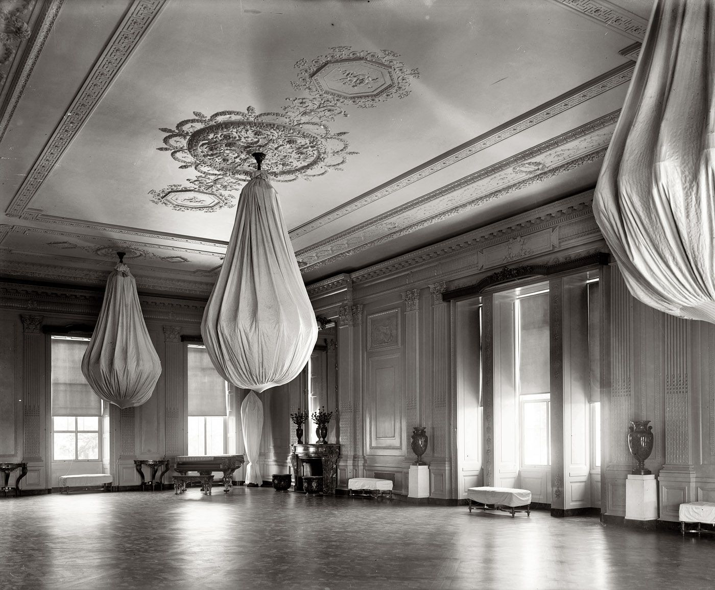 (c. 1920) East Room of the White House - Washington, D.C ...1920s White House