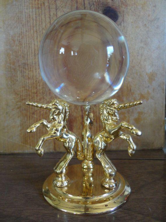 Crystal Ball - Fortune Telling Crystal Ball Unicorn Horse