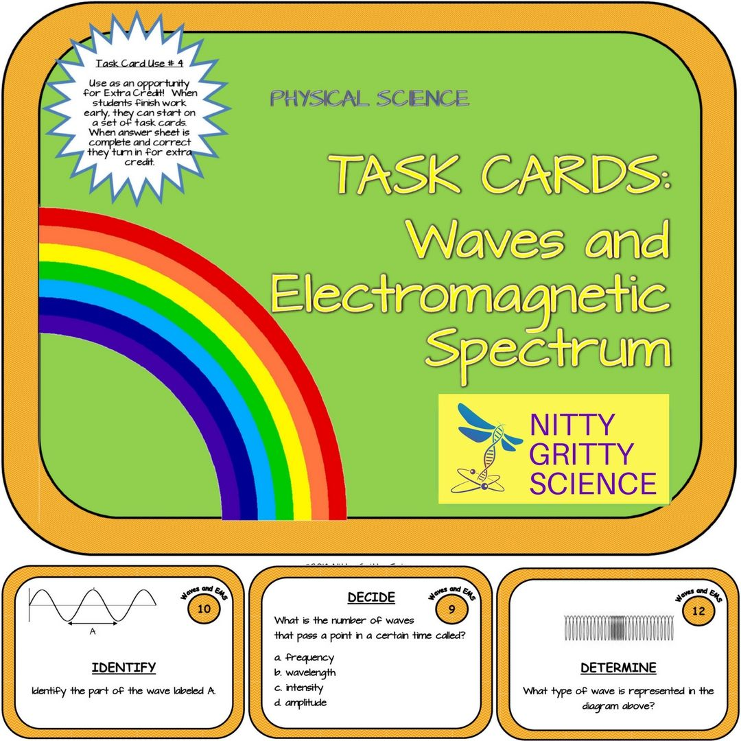 Waves And Electromagnetic Spectrum Physical Science Task