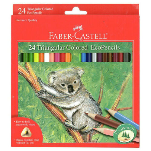 faber castell faber castell triangular colored ecopencils